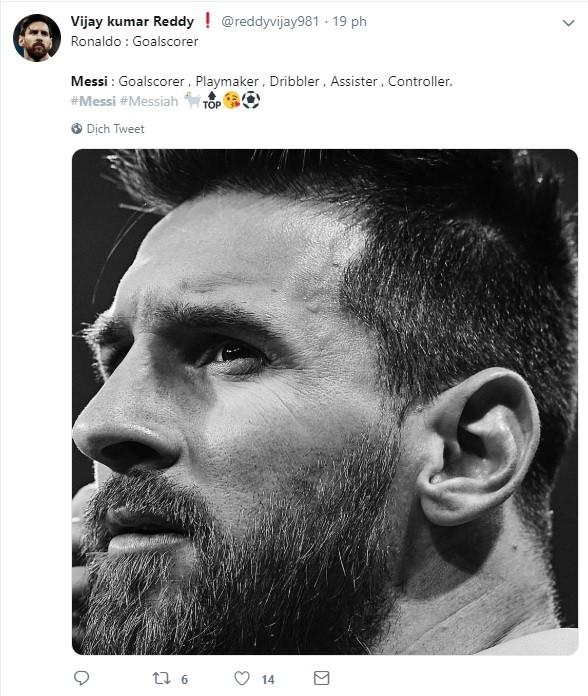 Dân mạng kêu gào sau màn trình diễn thần thánh của Messi: Anh và Ronaldo xin đừng bắt chúng tôi phải so sánh ai giỏi hơn nữa! - Ảnh 2.