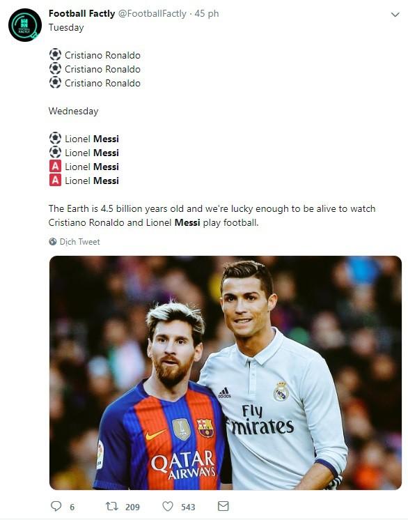 Dân mạng kêu gào sau màn trình diễn thần thánh của Messi: Anh và Ronaldo xin đừng bắt chúng tôi phải so sánh ai giỏi hơn nữa! - Ảnh 4.
