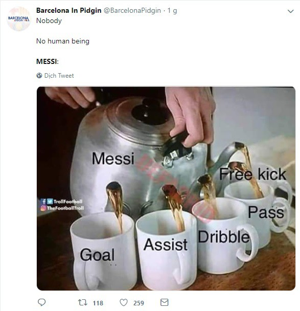 Dân mạng kêu gào sau màn trình diễn thần thánh của Messi: Anh và Ronaldo xin đừng bắt chúng tôi phải so sánh ai giỏi hơn nữa! - Ảnh 3.