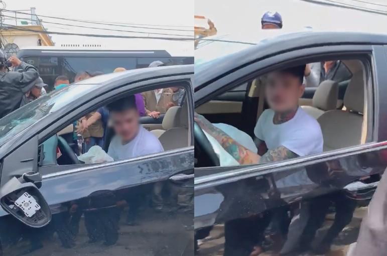 Thanh niên ôm vô lăng lắc lư, nhún nhảy say sưa sau khi tông trúng hàng loạt ô tô, xe máy ở Đà Lạt - Ảnh 4.