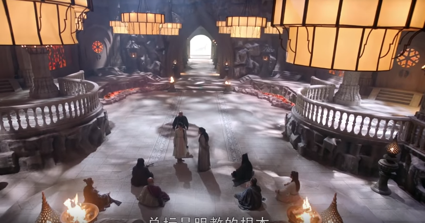 Ngạc nhiên chưa, khi mà cả võ lâm còn thắp sáng bằng nến thì Minh Giáo của Tân Ỷ Thiên Đồ Long Ký 2019 đã dùng hẳn... đèn pha - Ảnh 8.