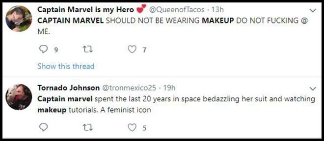Trailer Endgame khiến fan Avengers tranh cãi kịch liệt vì lớp trang điểm đậm của chị đại Captain Marvel - Ảnh 5.