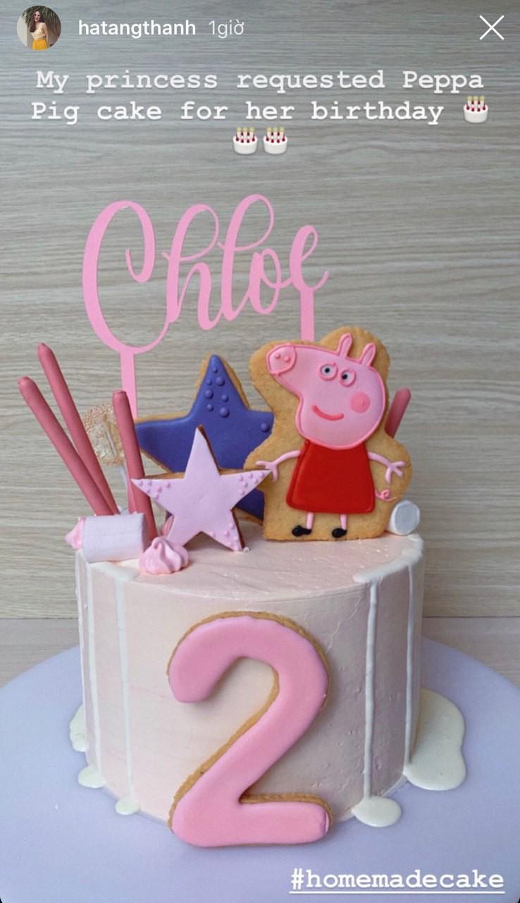 Con gái 2 tuổi yêu cầu chiếc bánh kem đặc biệt cho sinh nhật, Tăng Thanh Hà trổ tài và đây là kết quả! - Ảnh 1.