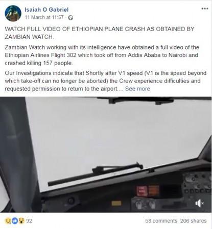 Sự thật về clip chấn động máy bay Ethiopia nổ tung đang gây xôn xao MXH - Ảnh 3.