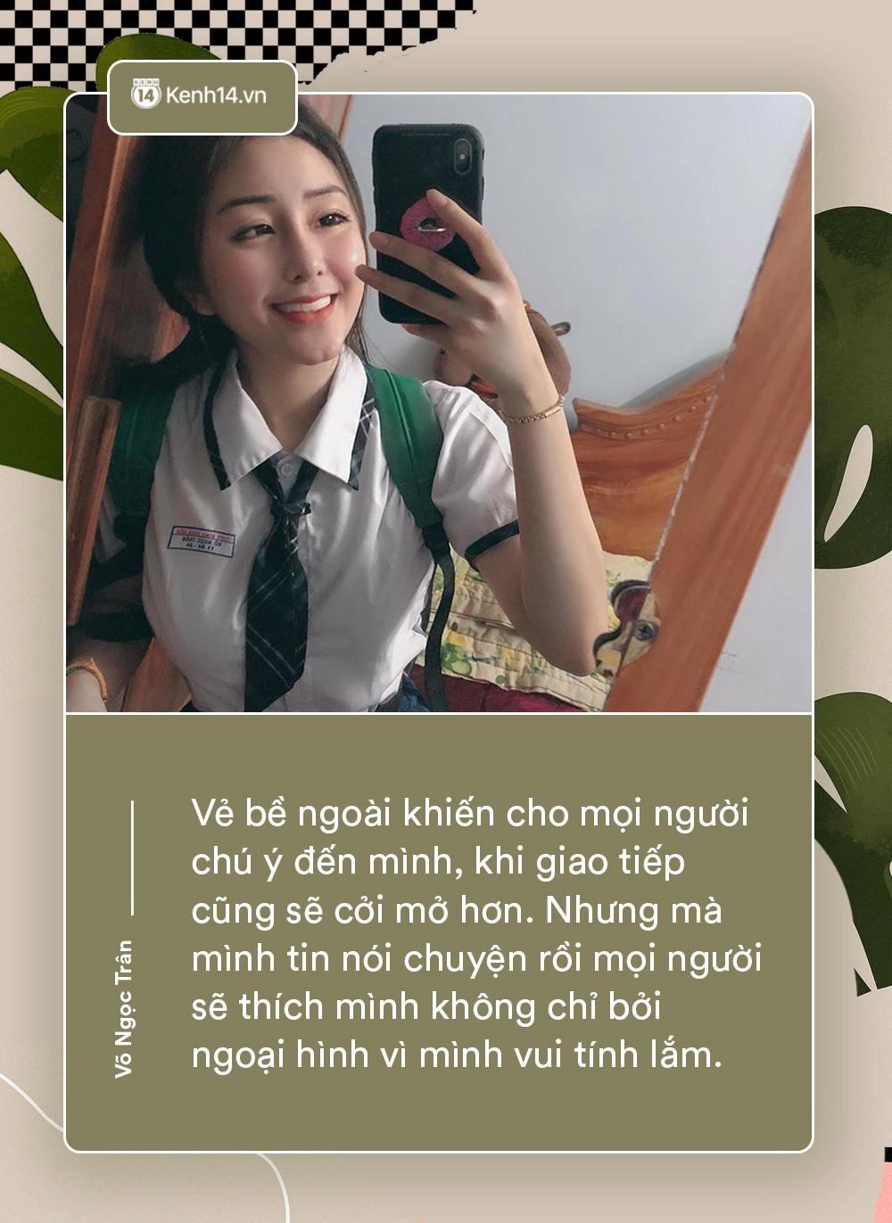 Võ Ngọc Trân - nữ sinh cấp 3 đang hot nhất Sài Gòn: Không cần người đẹp trai và quá giàu có, vì mình có thể kiếm được tiền - Ảnh 1.