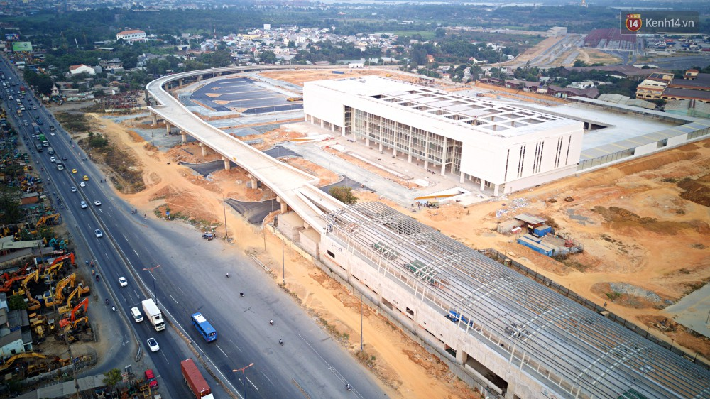 Cận cảnh bến xe Miền Đông lớn nhất Việt Nam đang dần thành hình, tổng vốn đầu tư 4 nghìn tỷ - Ảnh 3.