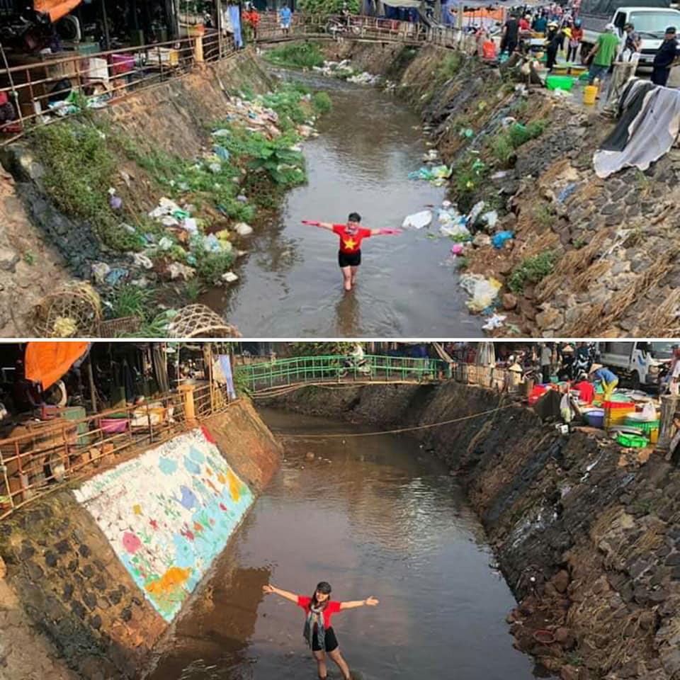 Dễ thương làm sao hình ảnh người lớn, trẻ nhỏ cũng xắn tay với Thử thách dọn rác: Dòng kênh đen dài 2km hồi sinh sau 1 tuần lễ - Ảnh 9.