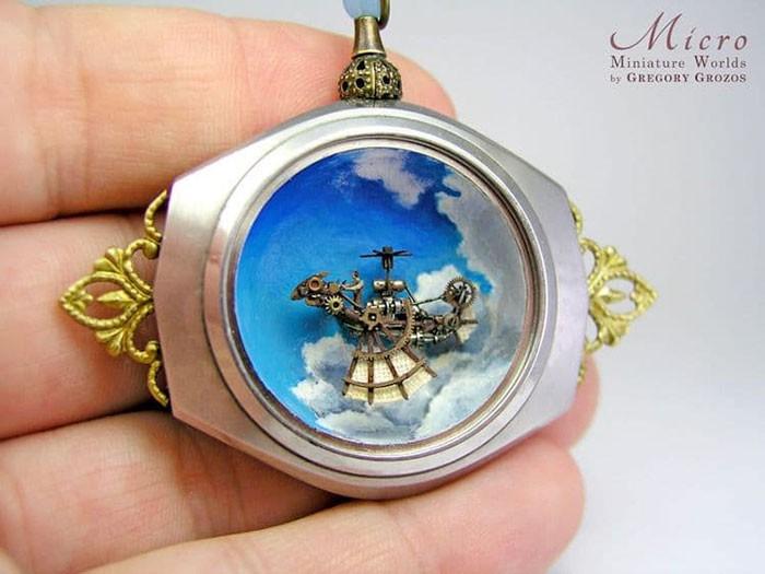 Nghệ sĩ này đem cả thế giới tí hon vào những chiếc đồng hồ cũ hỏng, kết quả ngoài cả sức tưởng tượng! - Ảnh 14.