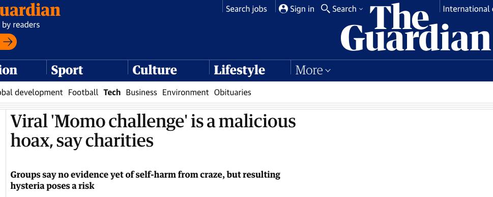 Truyền thông phương Tây khẳng định thử thách Momo chỉ là một chiêu trò lừa bịp - Ảnh 2.