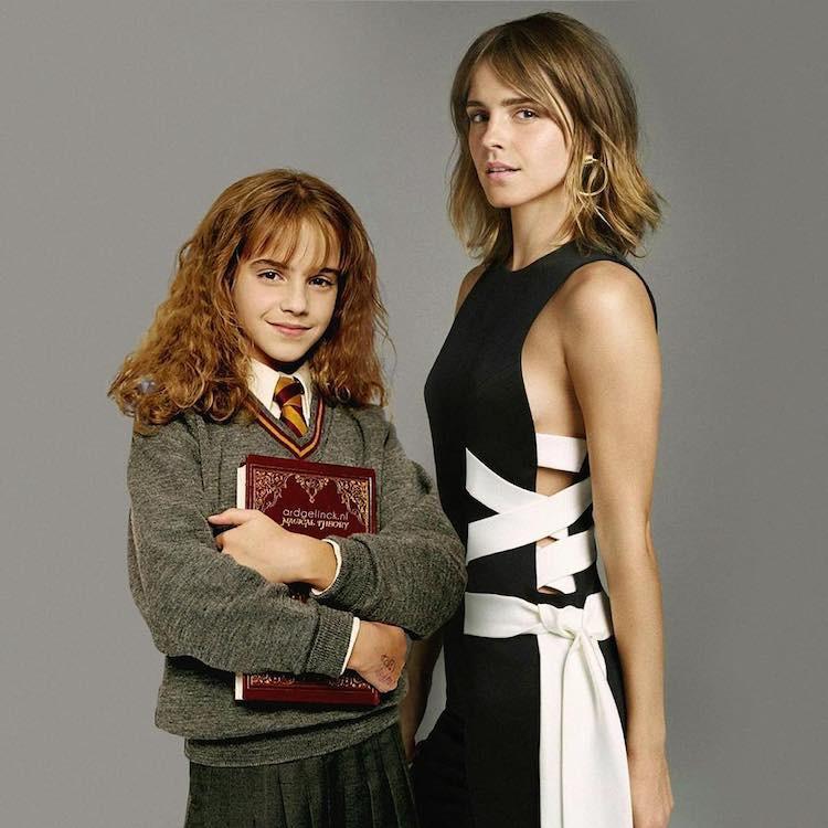 Nhờ phù thuỷ photoshop, các diễn viên đình đám Hollywood đã được về tuổi thơ gặp lại chính mình! - Ảnh 2.
