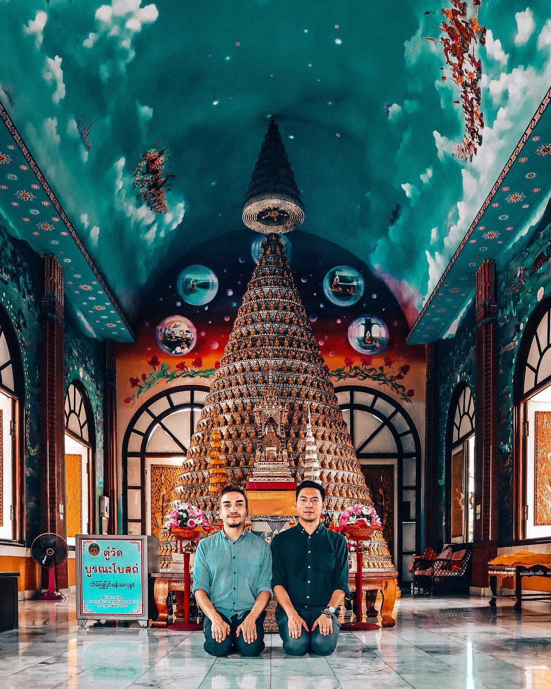 Thoạt nhìn cứ tưởng bối cảnh phim Hollywood nhưng hoá ra ngôi chùa này ở Thái lại hoàn toàn có thật! - Ảnh 12.