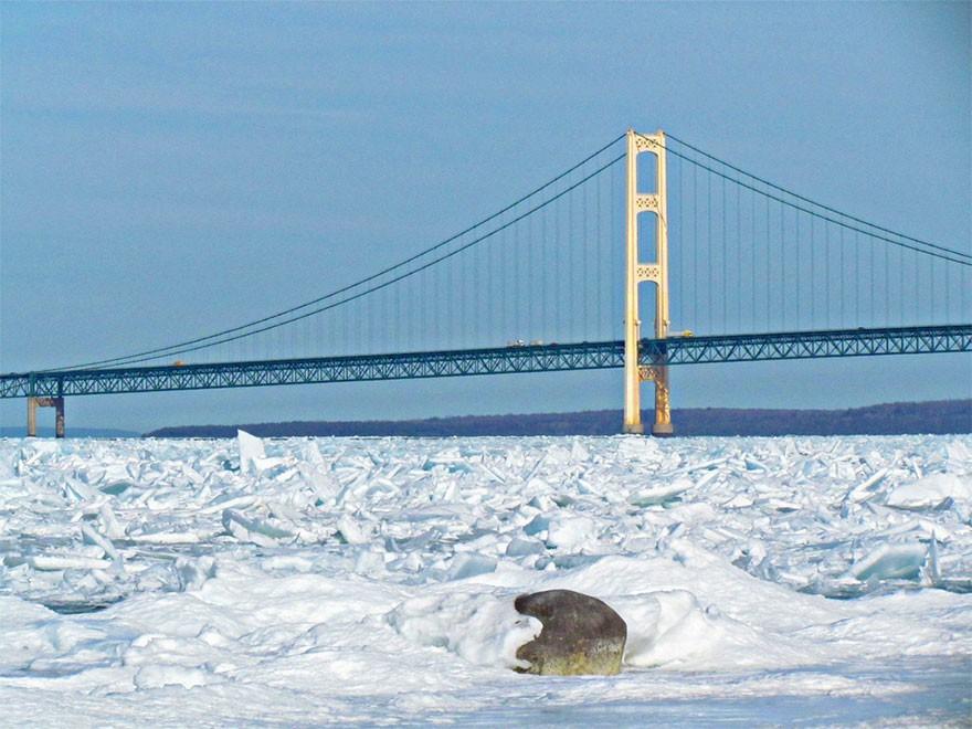 Băng ở hồ Mỹ vỡ thành hàng triệu mảnh, dân mạng băn khoăn: Frozen đời thực hay gì? - Ảnh 13.