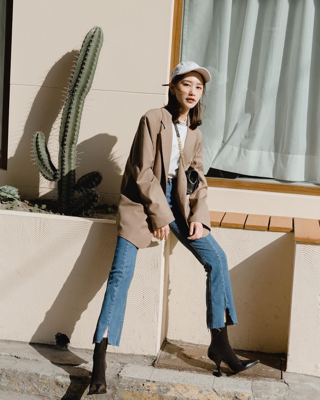 Có đến 4 style khác nhau từ cặp bài trùng quần jeans + blazer phục vụ các chị em công sở - Ảnh 10.