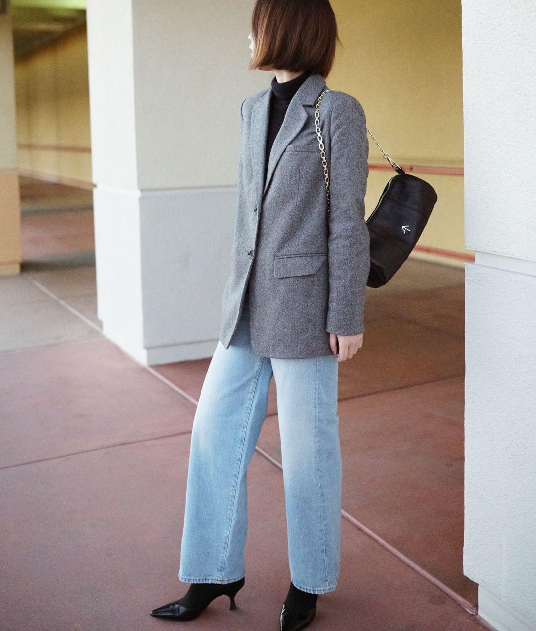 Có đến 4 style khác nhau từ cặp bài trùng quần jeans + blazer phục vụ các chị em công sở - Ảnh 13.