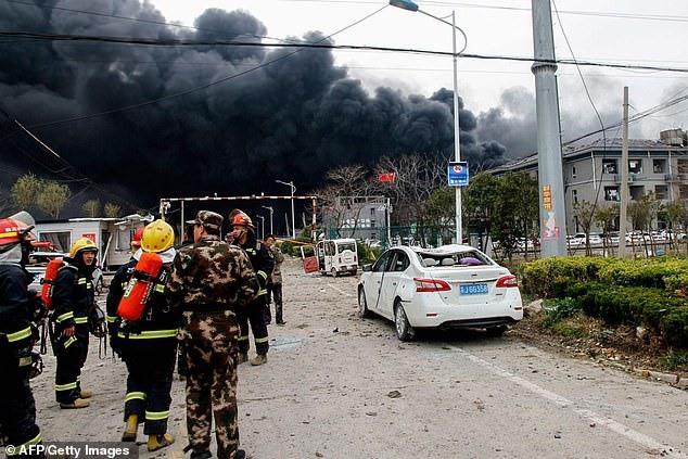 Hiện trường vụ nổ nhà máy hóa chất Trung Quốc, 47 người thiệt mạng - Ảnh 5.