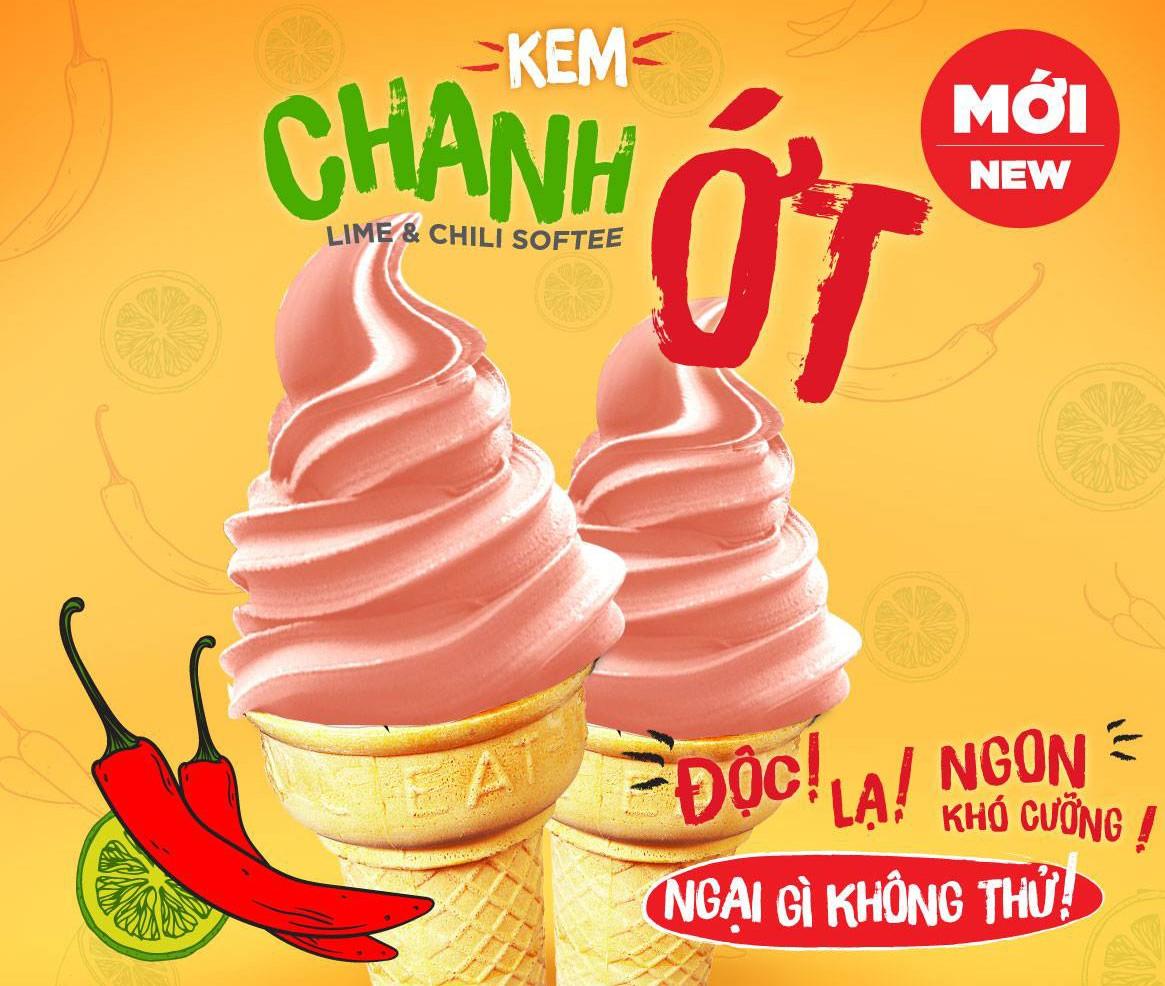 Dân mạng lại xôn xao vì chiếc kem dành cho người khẩu nghiệp mang tên: kem chanh ớt - Ảnh 1.