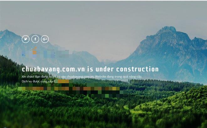 Website chùa Ba Vàng tạm thời không thể truy cập được - Ảnh 1.