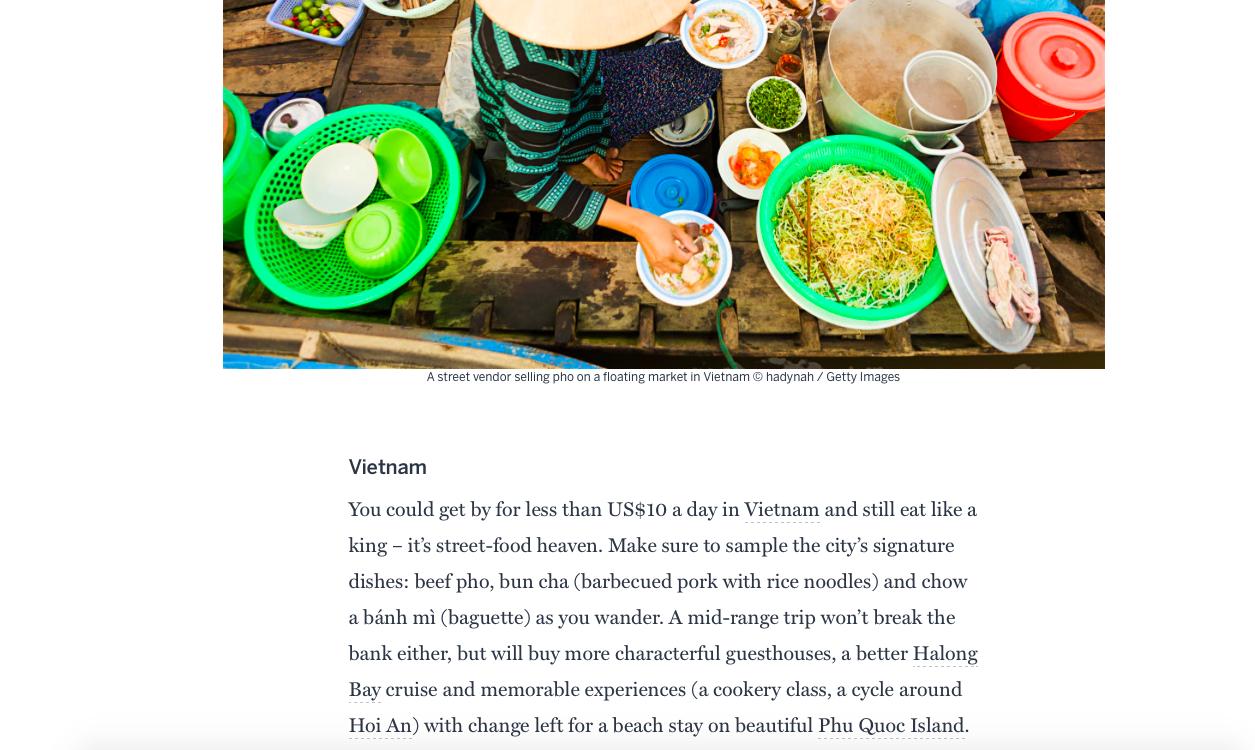 Tạp chí du lịch Lonely Planet bình chọn Việt Nam là một trong những nơi tận hưởng tuần trăng mật với giá cả dễ chịu nhất thế giới - Ảnh 2.