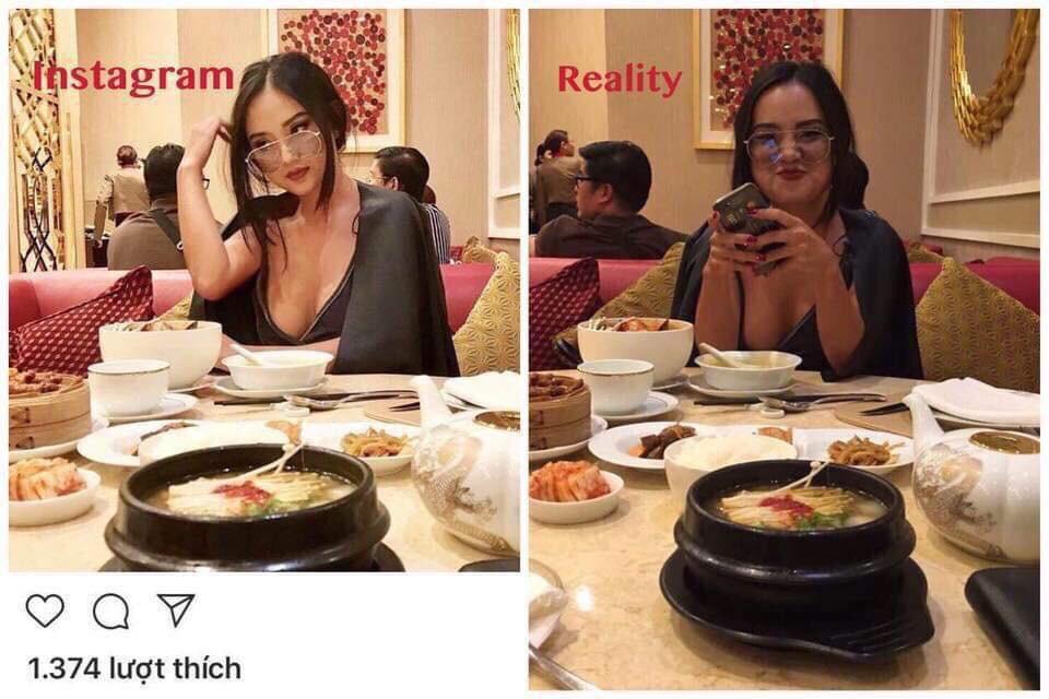 Lại lộ vẻ kém sắc, không được như hình tự đăng của gái xinh Instagram nổi tiếng nhờ body bốc lửa - Ảnh 1.