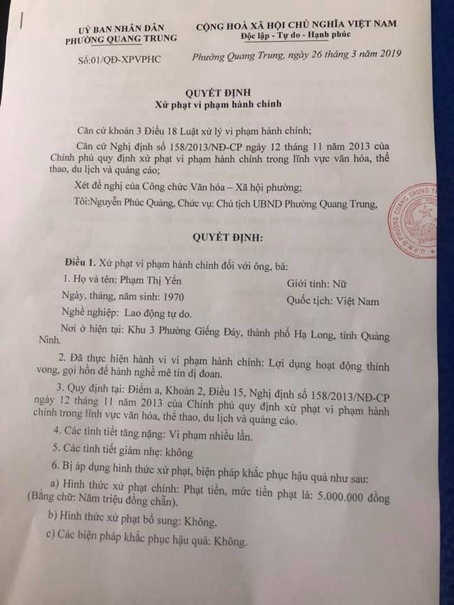 Con trai bà Phạm Thị Yến chùa Ba Vàng nộp phạt 5 triệu đồng thay cho mẹ - Ảnh 2.