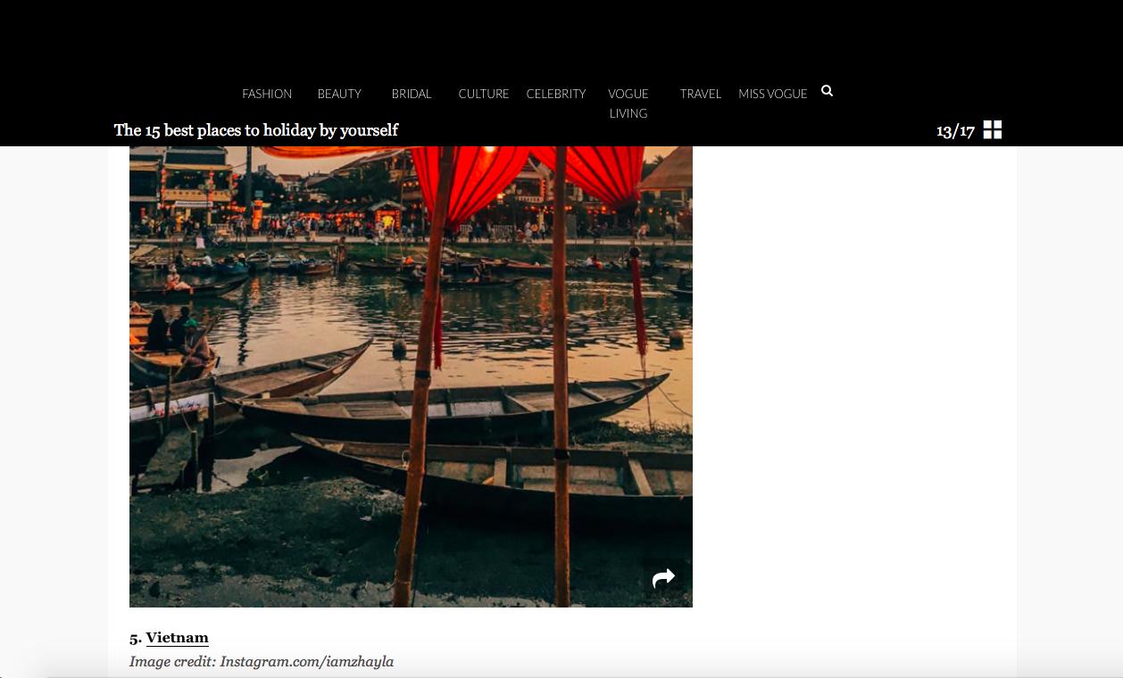 Tạp chí Vogue Úc đánh giá Việt Nam là 1 trong 15 nơi tuyệt vời để đi du lịch một mình - Ảnh 2.