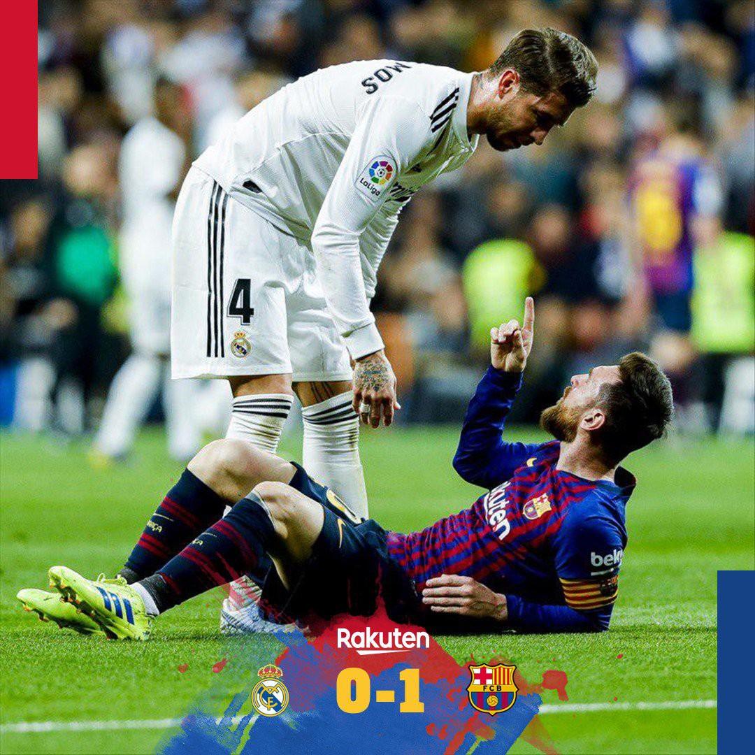 Đội trưởng Real Madrid ăn đòn sau khi liên tục chơi xấu với Messi - Ảnh 4.
