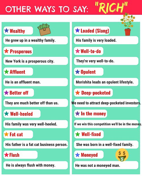 Những cách khác nhau để nói về cuộc sống giàu có, xa hoa, sang chảnh trong Tiếng Anh - Ảnh 1.