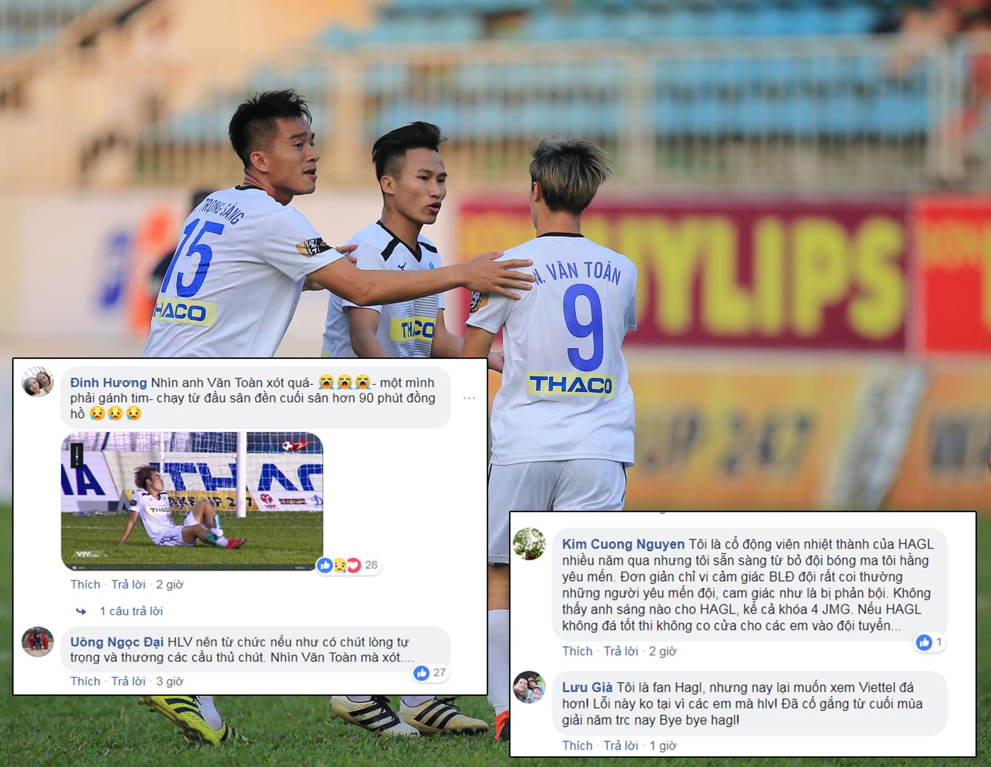 Xót xa cho Văn Toàn, fan đồng loạt tấn công fanpage HAGL kêu gọi HLV Dương Minh Ninh từ chức - Ảnh 2.