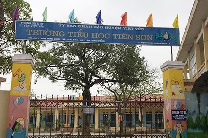 Trường Tiểu học Tiên Sơn nơi thầy giáo M. công tác. Ảnh: Lao động