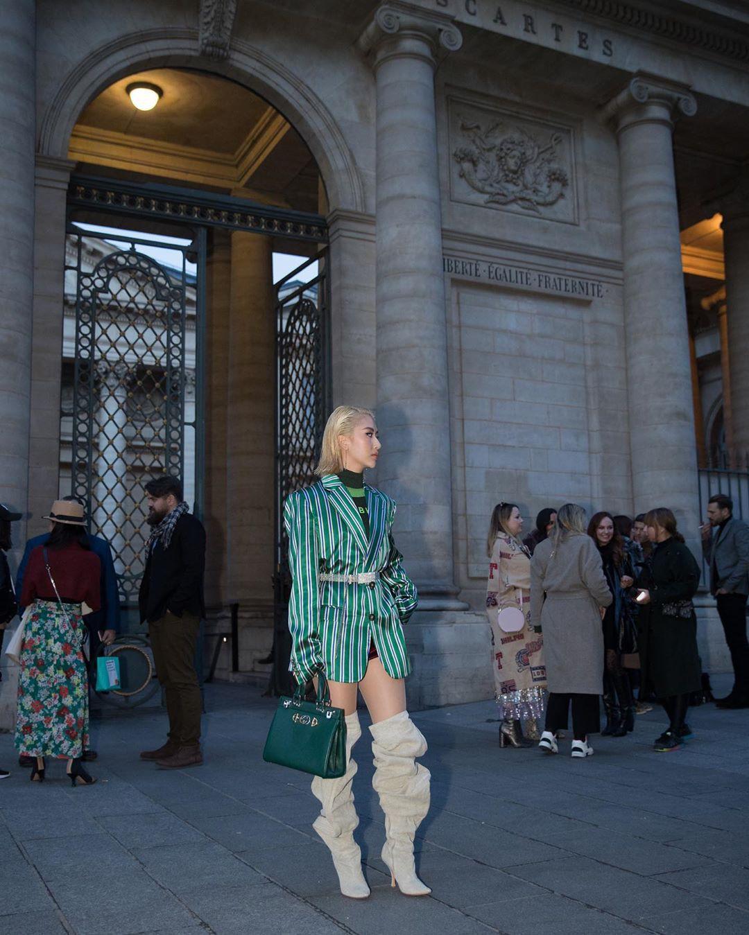 Xét khoản mặc dị tại Paris Fashion Week mùa này, Quỳnh Anh Shyn mà nhận hạng 2 chắc không ai dám làm số 1 - Ảnh 9.