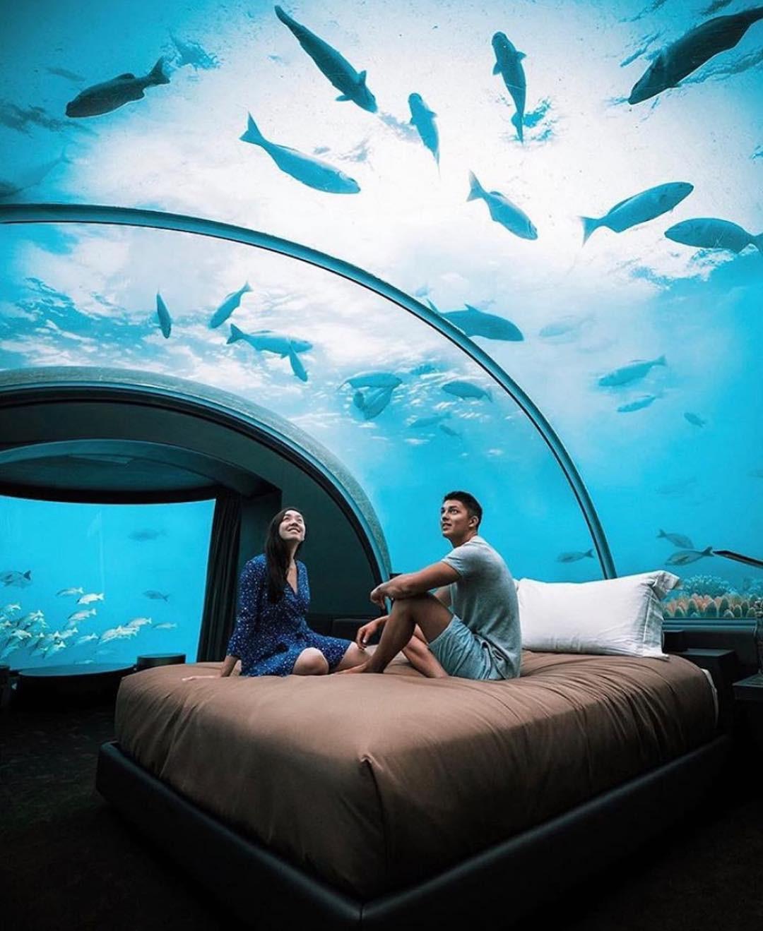 Loá mắt với khách sạn triệu đô dưới đáy biển Ấn Độ Dương mà chỉ giới siêu giàu mới đủ tiền thuê - Ảnh 3.