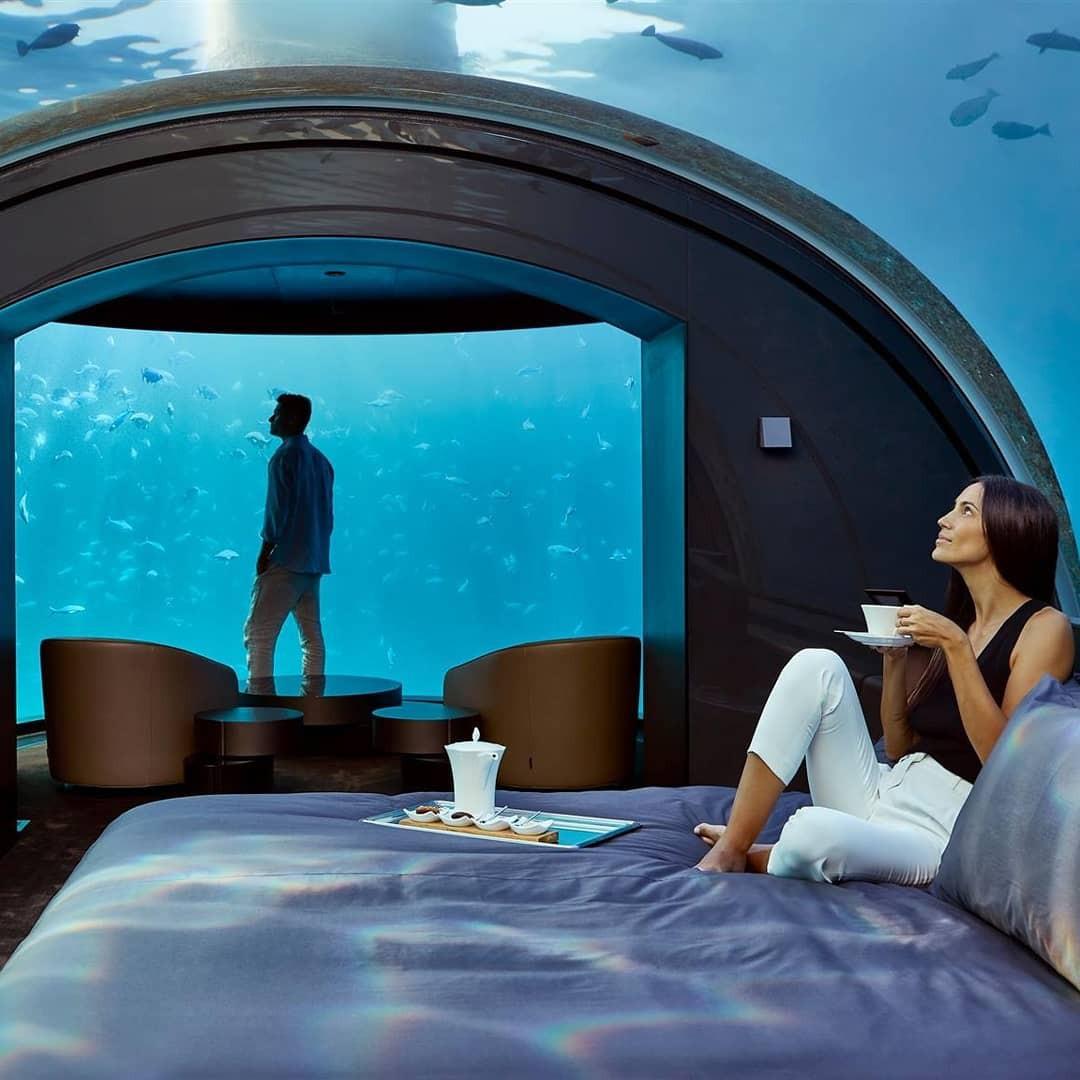 Loá mắt với khách sạn triệu đô dưới đáy biển Ấn Độ Dương mà chỉ giới siêu giàu mới đủ tiền thuê - Ảnh 11.