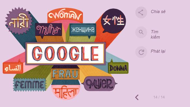 Google tôn vinh 8/3 theo cách không thể đặc biệt hơn: Thiết kế hình ảnh chưa từng có - Ảnh 15.