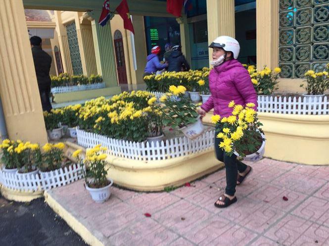 Phản cảm cảnh tranh cướp hoa trang trí ở ga Đồng Đăng - Ảnh 3.