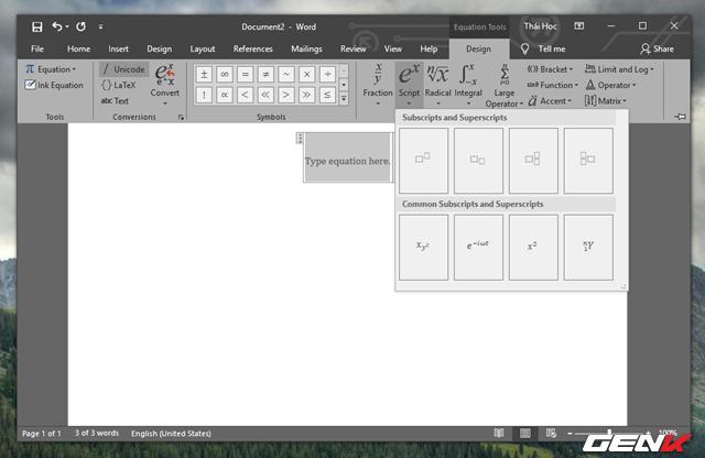 Hướng dẫn cách viết công thức Hóa học chuyên nghiệp và pro trong Microsoft Word - Ảnh 7.