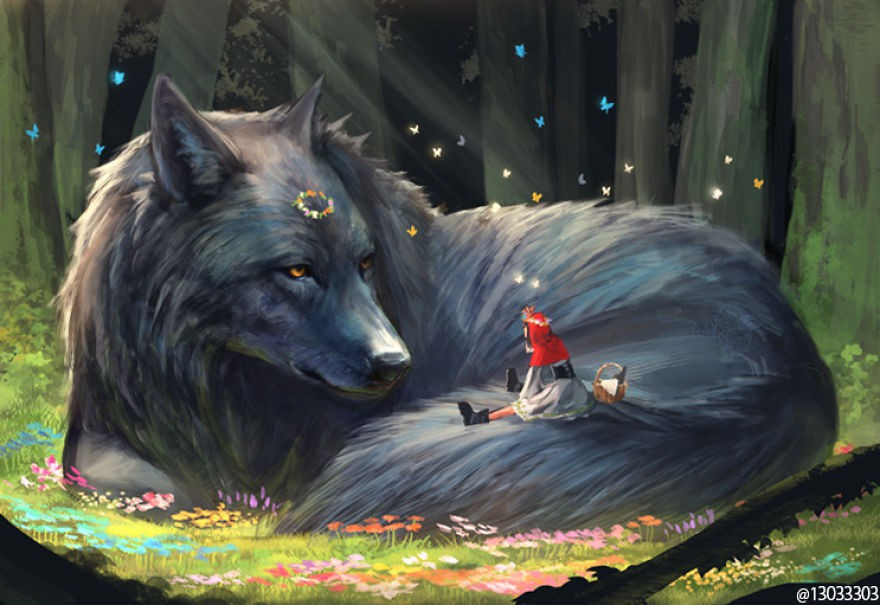 Họa sĩ Nhật Bản vẽ ra một thế giới nơi con người vui sống giữa những con thú khổng lồ - Ảnh 3.