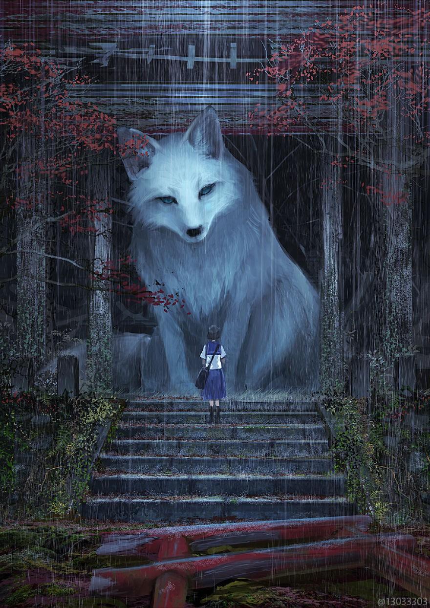 Họa sĩ Nhật Bản vẽ ra một thế giới nơi con người vui sống giữa những con thú khổng lồ - Ảnh 10.