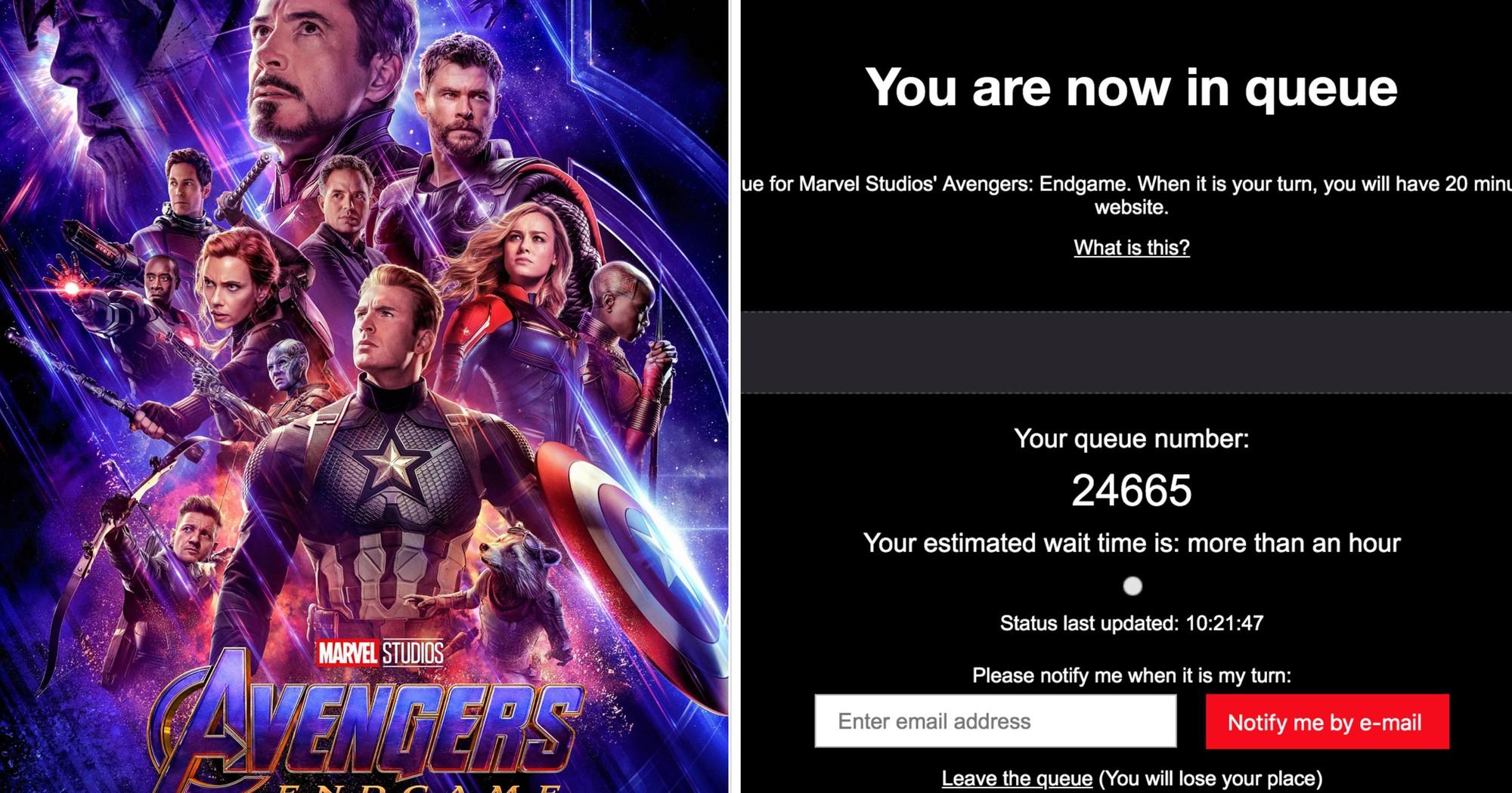 Avengers: Endgame làm sập hàng loạt web đặt vé tại Singapore, chợ đen bán tận 20 triệu đồng - Ảnh 2.