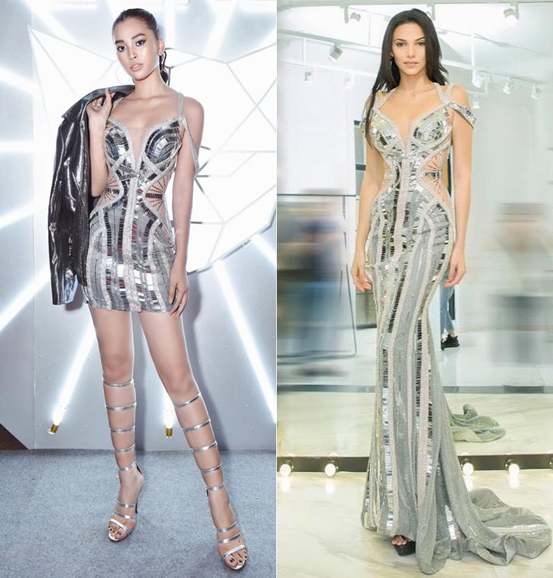 Đều mặt xinh dáng chuẩn nhưng Tiểu Vy tại Tuần lễ thời trang vẫn cá tính hơn HH Siêu Quốc Gia nhờ một chi tiết khi đụng váy - Ảnh 8.