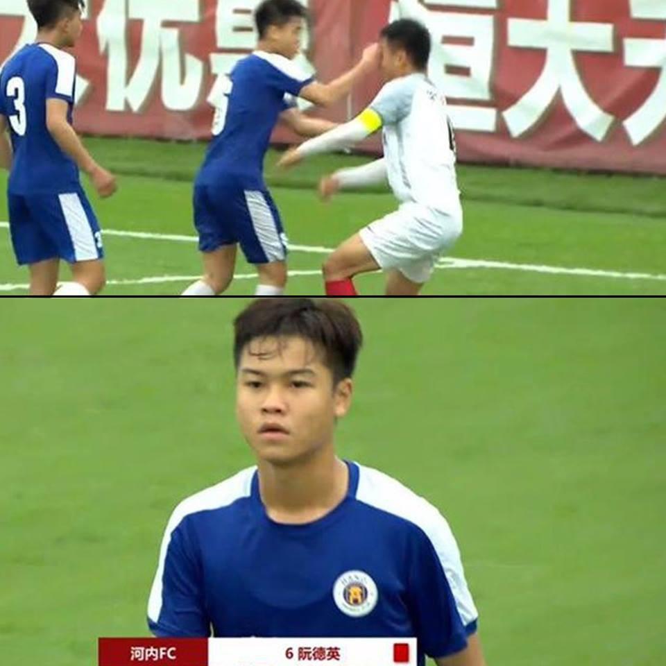 Sự cố cầu thủ U17 Hà Nội tung đấm vào mặt đồng nghiệp: BTC giải đấu ở Trung Quốc ra án phạt nặng - Ảnh 1.