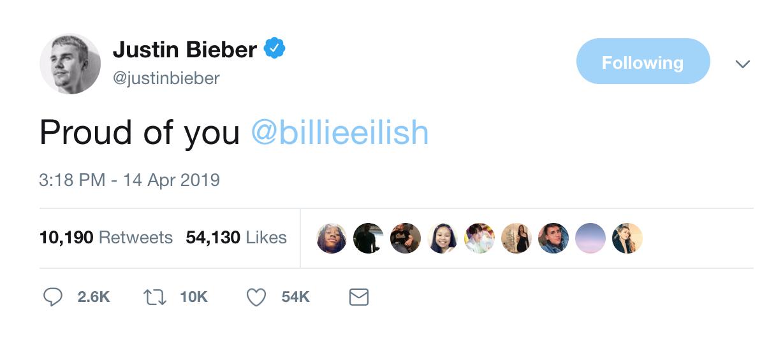 Fangirl thành công nhất gọi tên Billie Eilish: Được Justin Bieber khen tự hào trước hẳn 105 triệu người - Ảnh 5.