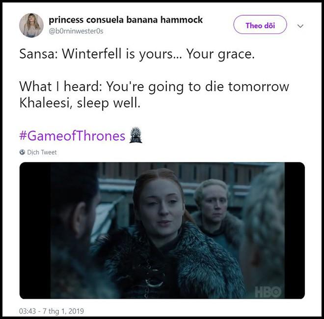 Game of Thrones 8: Mới tập 1, Mẹ Rồng và Sansa đã lườm nhau toét cả mắt - Ảnh 4.