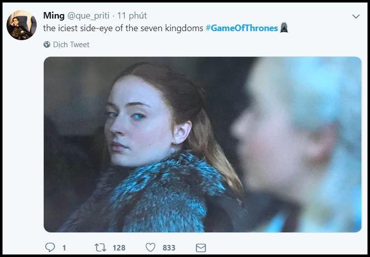 Game of Thrones 8: Mới tập 1, Mẹ Rồng và Sansa đã lườm nhau toét cả mắt - Ảnh 5.