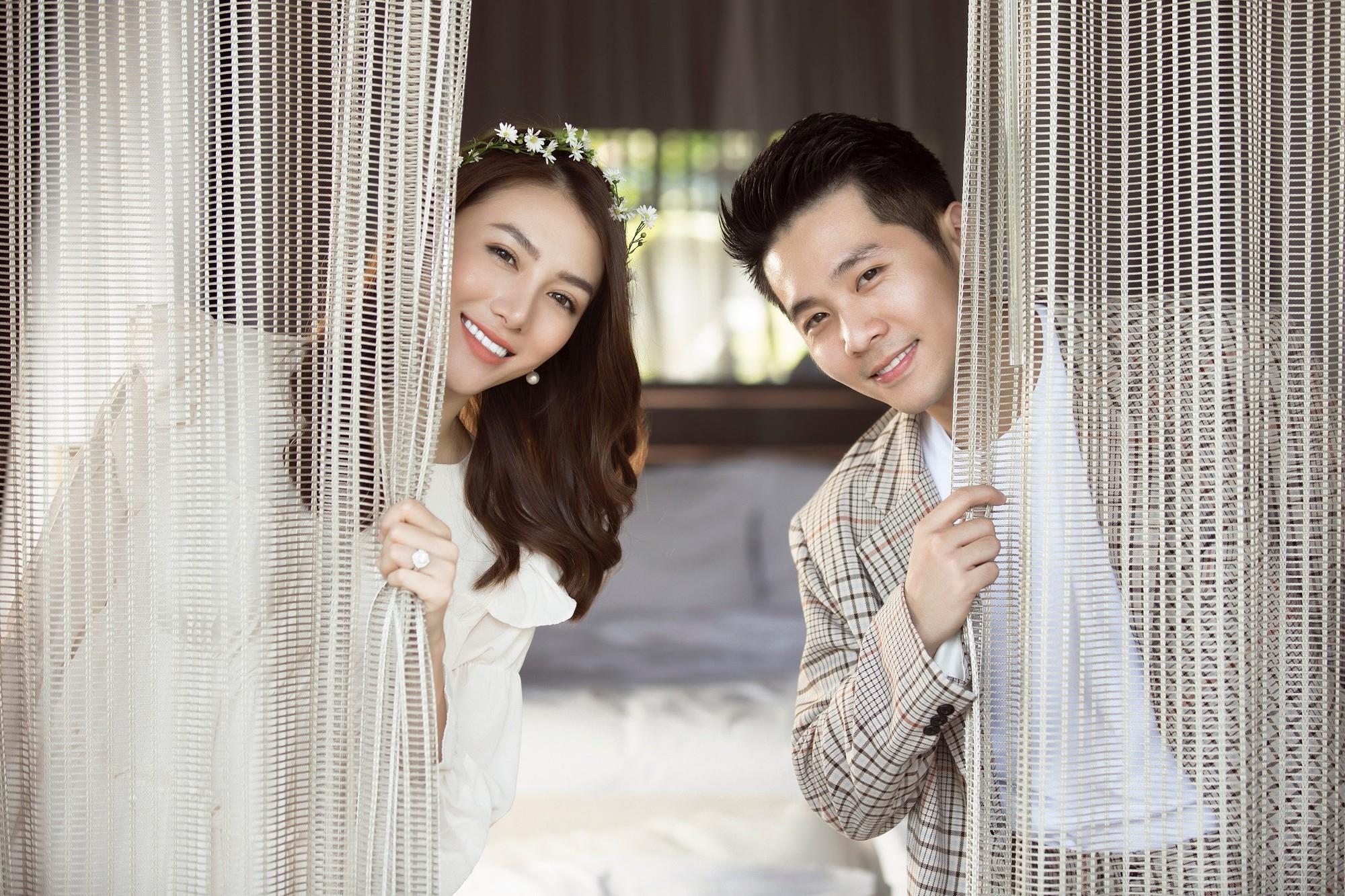 Cận ngày trọng đại, Lê Hà tung trọn bộ ảnh cưới lãng mạn chẳng kém phim Hàn cùng hôn phu điển trai - Ảnh 12.