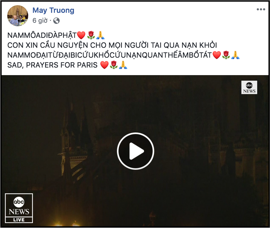 Sao Việt đau xót cầu nguyện trước cảnh tượng Nhà thờ Đức Bà Paris chìm trong biển lửa - Ảnh 12.