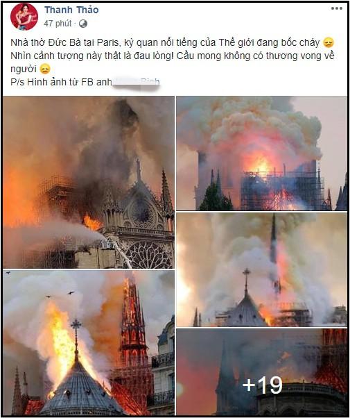Sao Việt đau xót cầu nguyện trước cảnh tượng Nhà thờ Đức Bà Paris chìm trong biển lửa - Ảnh 6.