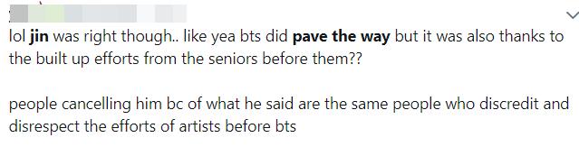 """Thật như đùa: Trả lời câu hỏi về """"người mở đường cho BTS"""", ai ngờ Jin bị chính fan """"ném đá"""" tả tơi! - Ảnh 4."""