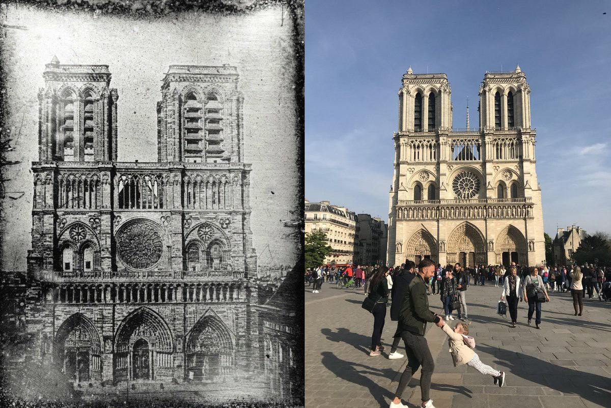 Cư dân mạng tìm kiếm hai cha con chụp ảnh trước Nhà thờ Đức Bà Paris ngay trước vụ hỏa hoạn - Ảnh 3.