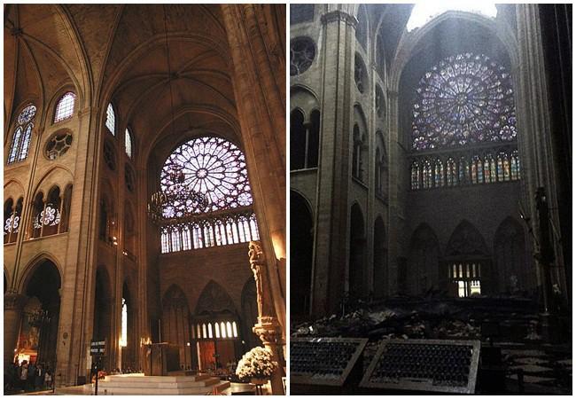 Phát hiện thêm một tuyệt tác của Nhà thờ Đức Bà Paris vẫn gần như còn nguyên vẹn, đứng hiên ngang trước đống tro tàn đổ nát - Ảnh 1.
