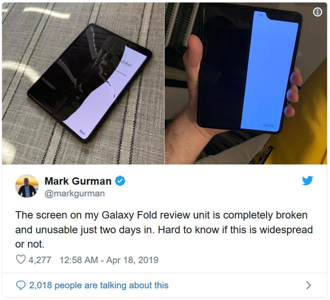 Samsung Galaxy Fold của nhiều phóng viên đang dùng thử đã hỏng chỉ sau 2 ngày sử dụng - Ảnh 2.